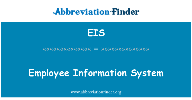 EIS: Employee Information System