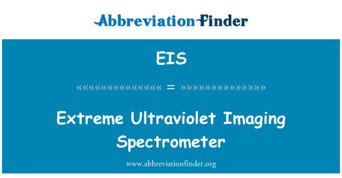 EIS: Extreme Ultraviolet Imaging Spectrometer