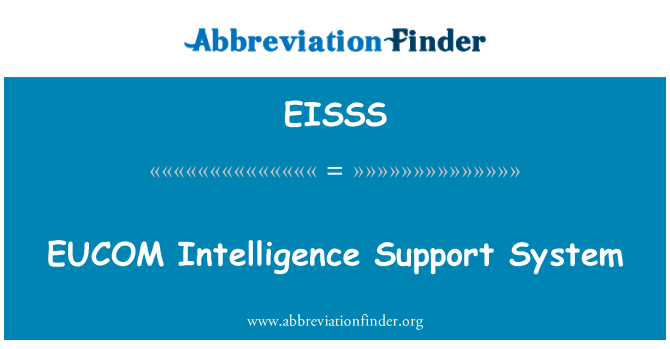 EISSS: EUCOM Intelligence Support System