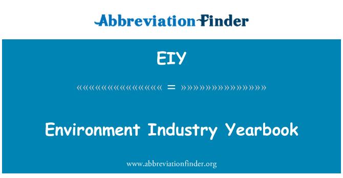 EIY: Environment Industry Yearbook