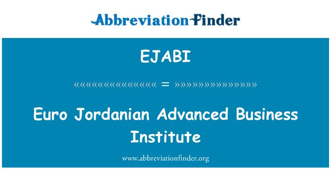 EJABI: Instituto de negocios avanzado jordano euro
