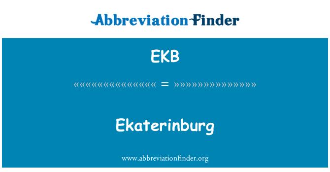 EKB: Ekaterinburg