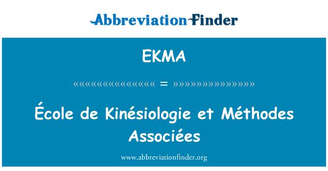 EKMA: École de Kinésiologie et Méthodes Associées