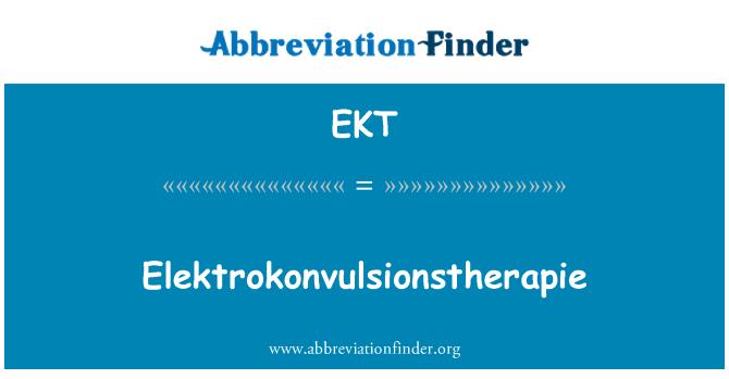 EKT: Elektrokonvulsionstherapie