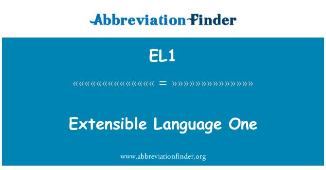 EL1: Lengua extensible uno