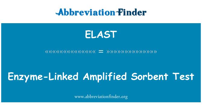 ELAST: Enzyme-Linked Amplified Sorbent Test