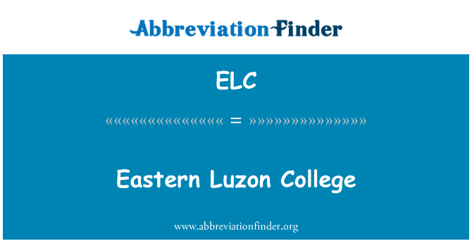 ELC: Eastern Luzon College