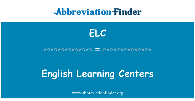 ELC: English Learning Centers