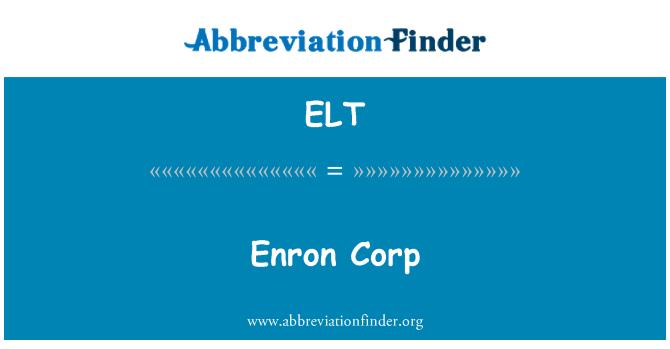 ELT: Enron Corp