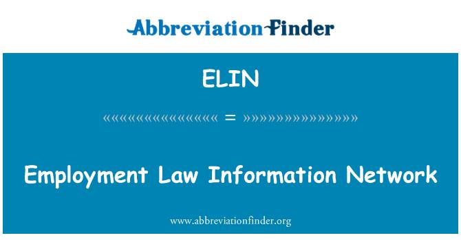 ELIN: روزگار قانون معلومات نیٹ ورک