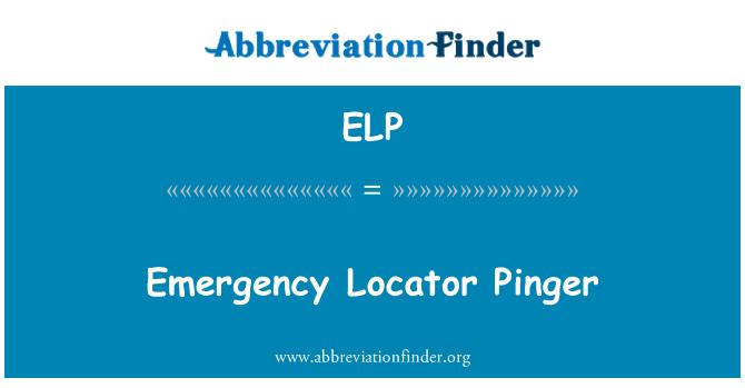 ELP: Emergency Locator Pinger