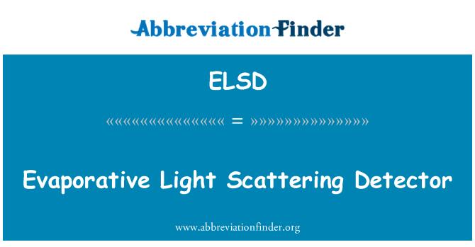 ELSD: Evaporative Light Scattering Detector