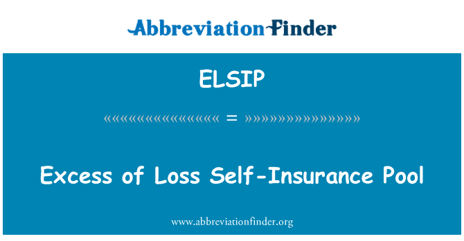 ELSIP: Excess of Loss Self-Insurance Pool