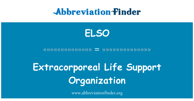 ELSO: Extracorporeal Life Support Organization