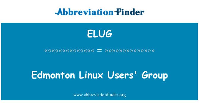ELUG: Edmonton Linux Users' Group