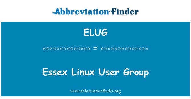 ELUG: Essex Linux User Group