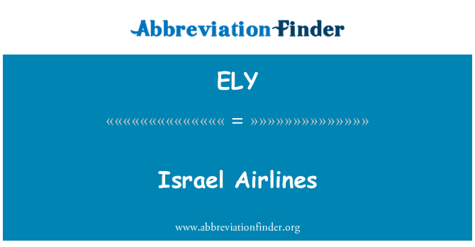 ELY: Israel Airlines
