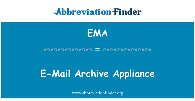 EMA: E-Mail Archive Appliance