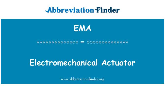 EMA: Electromechanical Actuator