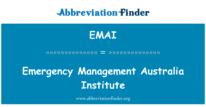 EMAI: Emergency Management Australia Institute