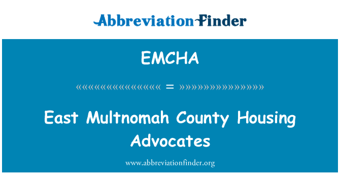 EMCHA: East Multnomah County Housing Advocates