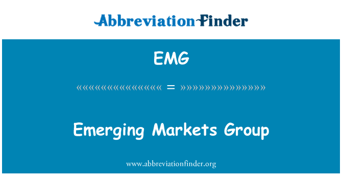 EMG: Emerging Markets Group