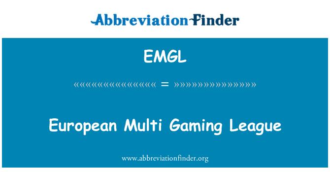 EMGL: European Multi Gaming League