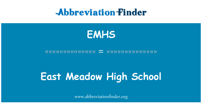 EMHS: East Meadow High School