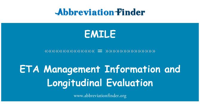 EMILE: ETA información para la gestión y evaluación Longitudinal