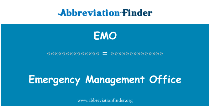 EMO: Emergency Management Office
