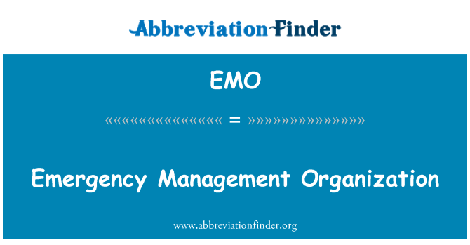 EMO: Emergency Management Organization