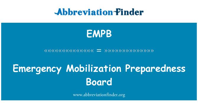 EMPB: Avarinis mobilizacijos parengties valdybos