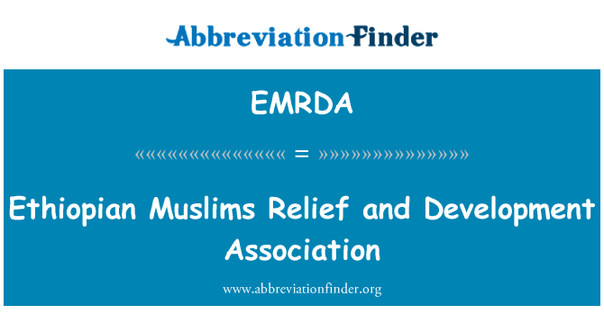 EMRDA: Ethiopian Muslims Relief and Development Association