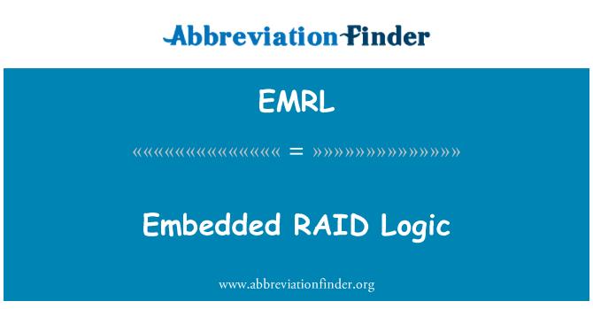 EMRL: 嵌入式的 RAID 逻辑