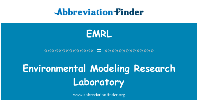 EMRL: Μοντελοποίηση περιβαλλοντικών ερευνητικό εργαστήριο
