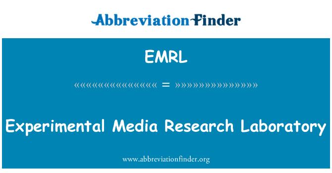 EMRL: Makmal Penyelidikan eksperimen Media