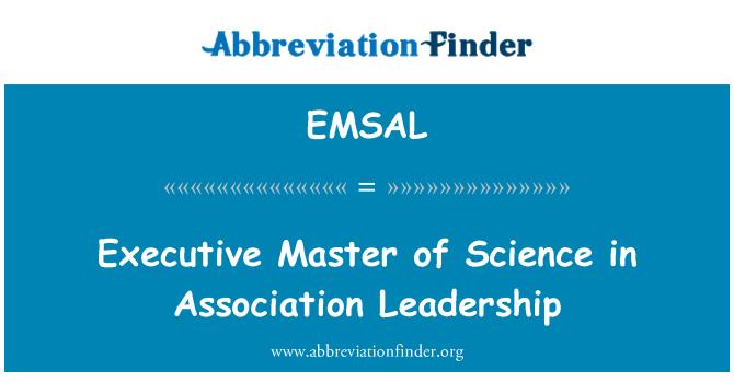 EMSAL: Executive Master of Science in Association Leadership