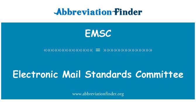 EMSC: Elektronik posta standartları Komitesi