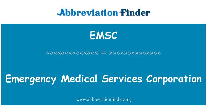 EMSC: Acil sağlık hizmetleri şirketi