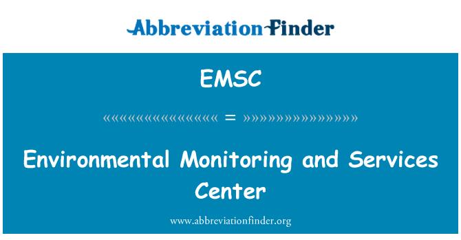 EMSC: Çevresel izleme ve Hizmetleri Merkezi