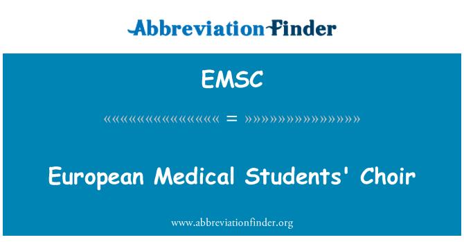 EMSC: Avrupa tıp öğrencileri Korosu
