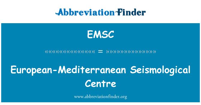 EMSC: Avrupa-Akdeniz Seismological Merkezi
