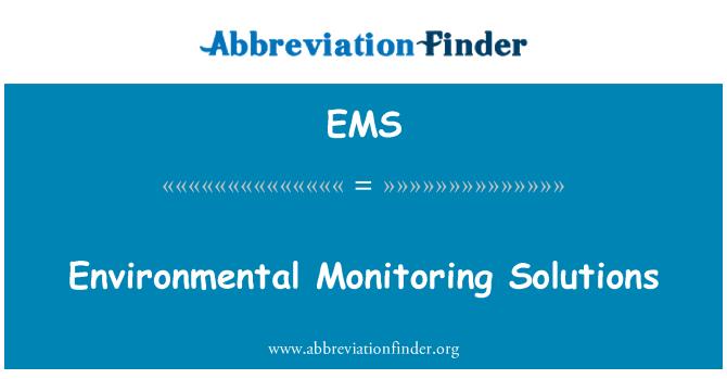 EMS: Environmental Monitoring Solutions
