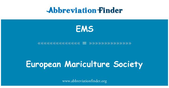 EMS: European Mariculture Society