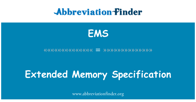 EMS: Extended Memory Specification