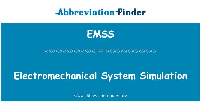 EMSS: Elektromehaanilised süsteemi simuleerimine