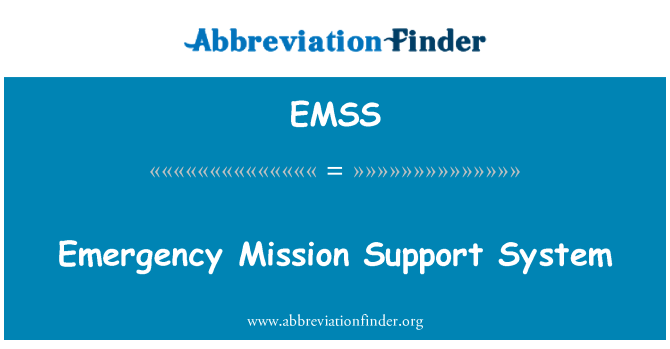 EMSS: Acil görev destek sistemi