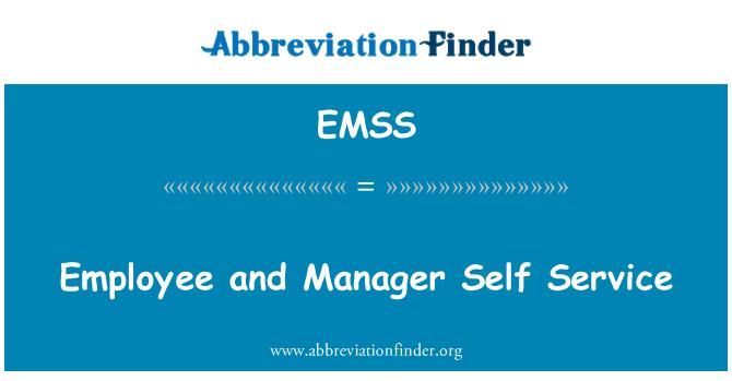 EMSS: Çalışan ve Yöneticisi Self Servis