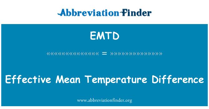 EMTD: Etkili ortalama sıcaklık farkı
