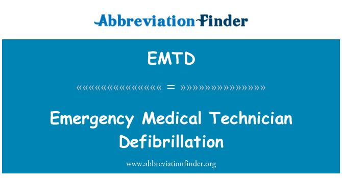 EMTD: Kiirabi tehnik Defibrillointi